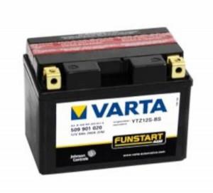 VARTA Powersports AGM 509 901 020 Motorradbatterie  - 12V 9Ah wartungsfrei