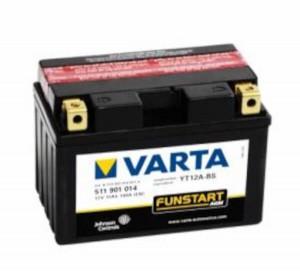 VARTA Powersports AGM 511 901 014 Motorradbatterie  - 12V 11Ah wartungsfrei
