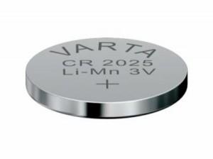 VARTA CR2025 Lithium Knopfzelle 3,0V 165mAh