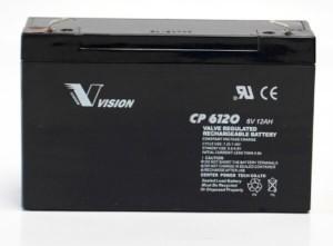 Vision CP6120 6V 12Ah Blei-Akku / AGM Batterie