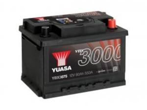 YUASA KFZ / Autobatterie YBX3075 - 12V 60Ah