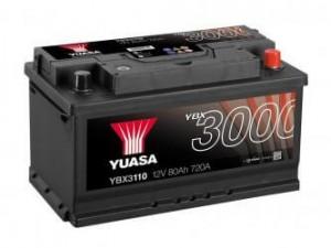 YUASA KFZ / Autobatterie YBX3110 - 12V 80Ah