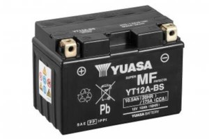 YUASA Motorradbatterie YT12A-BS - 12V 10Ah wartungsfrei