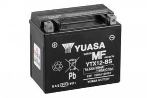 YUASA Motorradbatterie YTX12-BS - 12V 10Ah wartungsfrei