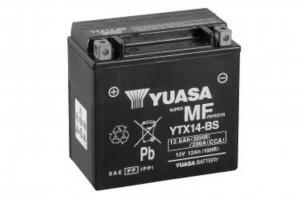 YUASA Motorradbatterie YTX14-BS - 12V 12Ah wartungsfrei