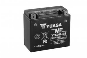YUASA Motorradbatterie YTX20L-BS - 12V 18Ah wartungsfrei