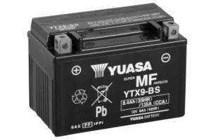 YUASA Motorradbatterie YTX9-BS - 12V 8Ah wartungsfrei