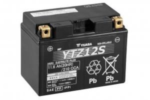 YUASA Motorradbatterie YTZ12S - 12V 11,6Ah wartungsfrei High Performance