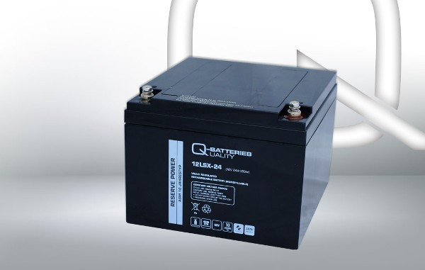 Q-Batteries 12LSX-24 12V 24Ah AGM Batterie Akku Longlife
