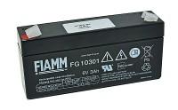 Fiamm FG10301 6V 3Ah Blei-Akku / AGM Batterie