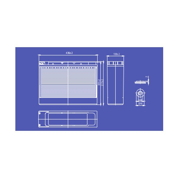 pbq LF60-24 LiFePO4 Batterie - 25,6V 60Ah Lithium-Ferrophosphat-Akku