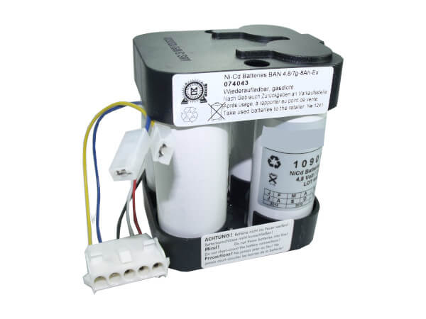 Originalakku für Bosch, Eisemann HSE7, HSEL7 Handlampe 4,8V Volt 8,0Ah NC NiCd Ex-Geschützt