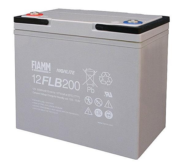 Fiamm 12FLB200 Highlite 12V 55Ah Blei-Akku / AGM Batterie