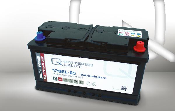 Q-Batteries 12GEL-65 12V 65Ah GEL Akku Zyklentyp Zyklenfest