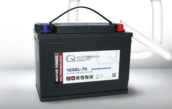Q-Batteries 12GEL-70 12V 70Ah GEL Akku Zyklentyp Zyklenfest