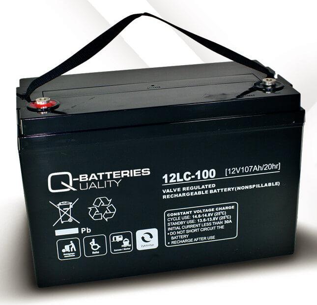 Q-Batteries 12LC-100 12V 107Ah Blei-Akku / AGM Batterie Zyklentyp