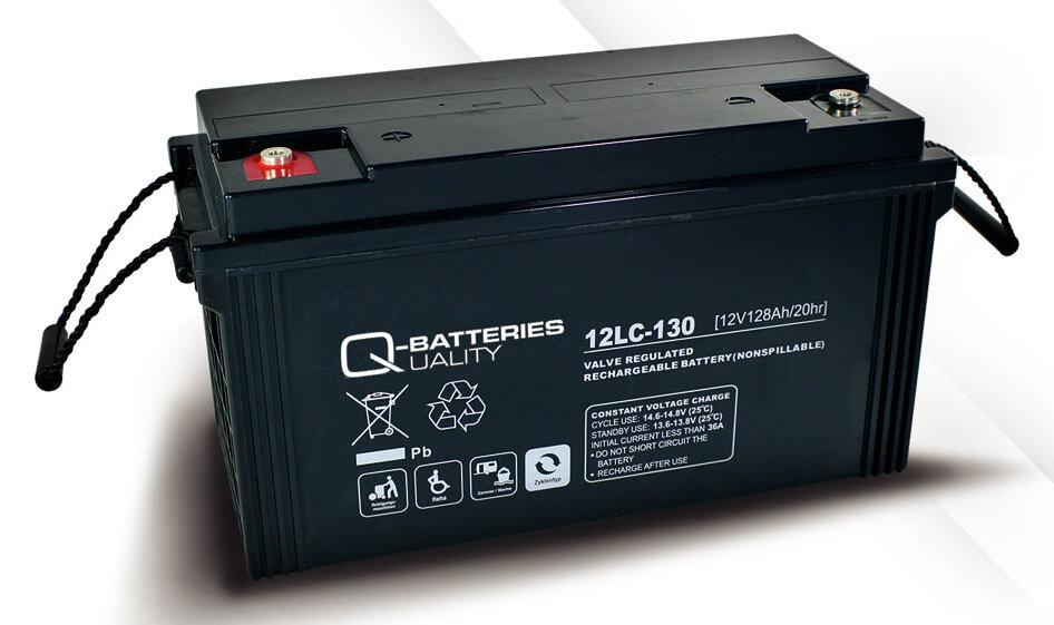Q-Batteries 12LC-130 12V 128Ah Blei-Akku / AGM Batterie Zyklentyp