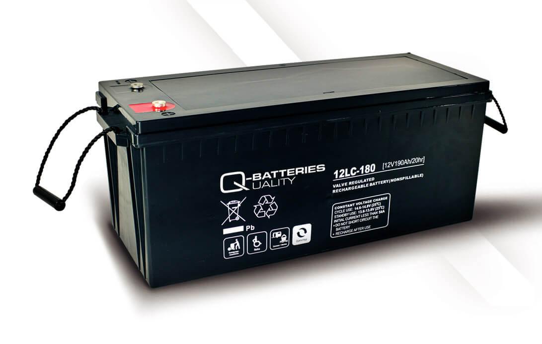 Q-Batteries 12LC-180 12V 193Ah Blei-Akku / AGM Batterie Zyklentyp