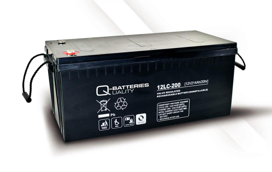 Q-Batteries 12LC-200 12V 214Ah Blei-Akku / AGM Batterie Zyklentyp