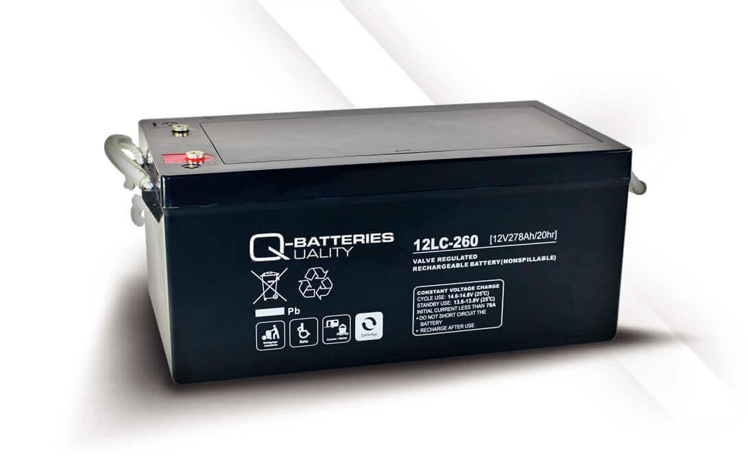 Q-Batteries 12LC-260 12V 275Ah Blei-Akku / AGM Batterie Zyklentyp