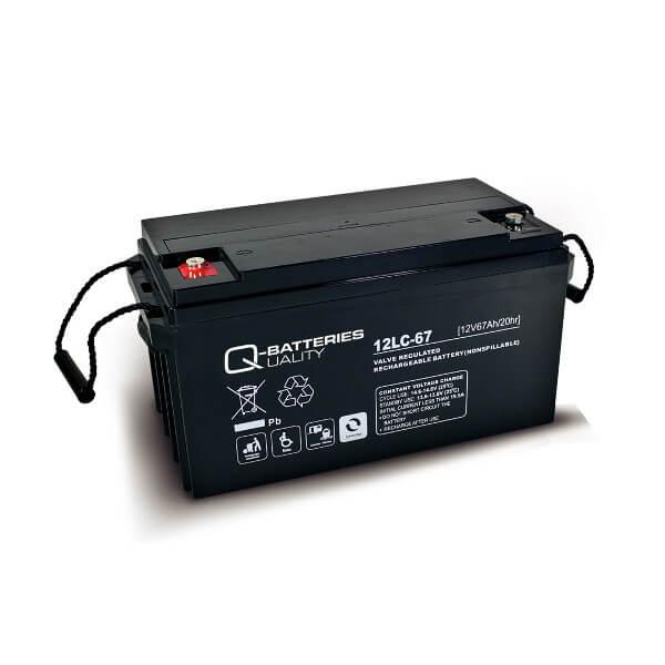 Q-Batteries 12LC-67 12V 67Ah Blei-Akku / AGM Batterie Zyklentyp