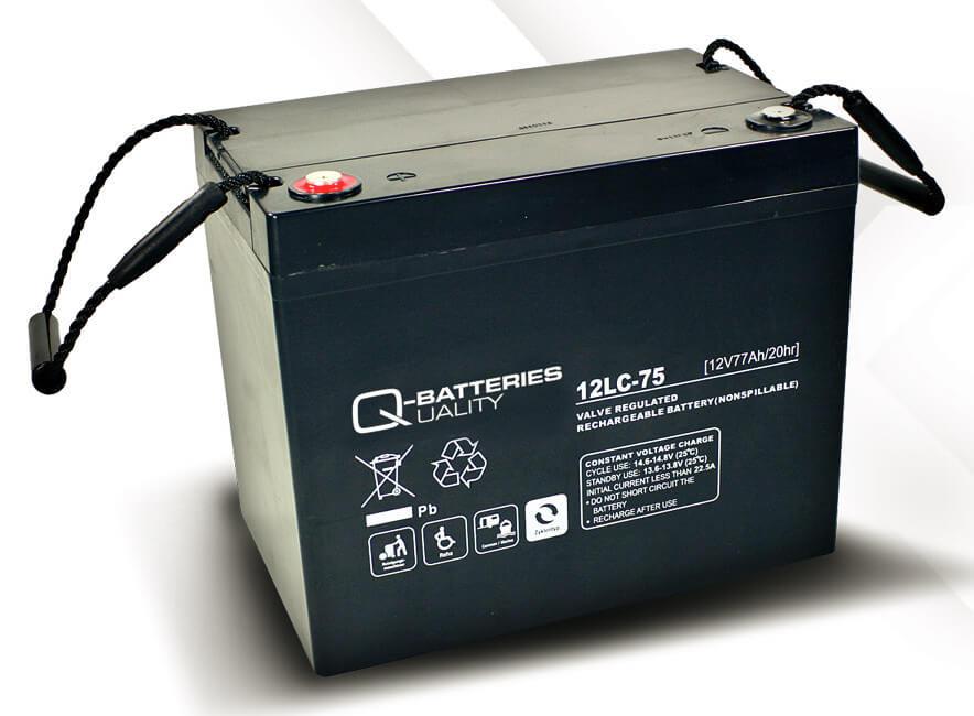Q-Batteries 12LC-75 12V 77Ah Blei-Akku / AGM Batterie Zyklentyp