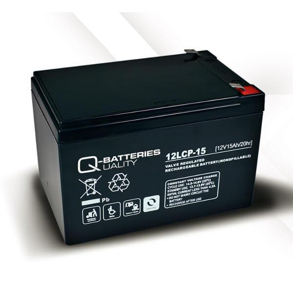 Q-Batteries 12LCP-15 12V 15Ah Blei-Akku / AGM Batterie Zyklenfest