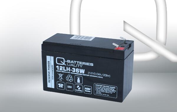 Q-Batteries 12LH-36W 12V 36W AGM Batterie Akku Hochstrom