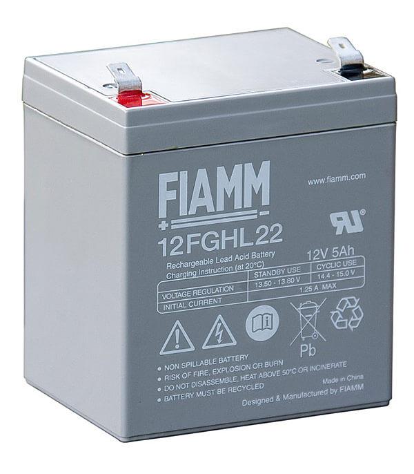 Fiamm 12FGHL22 12V 5Ah Blei-Akku / AGM Batterie Hochstrom Longlife