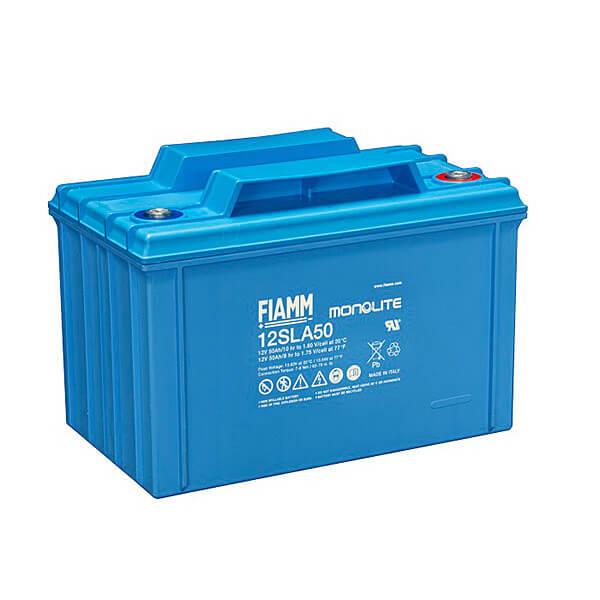 Fiamm 12SLA50L 12V 50Ah Blei-Akku / AGM Batterie