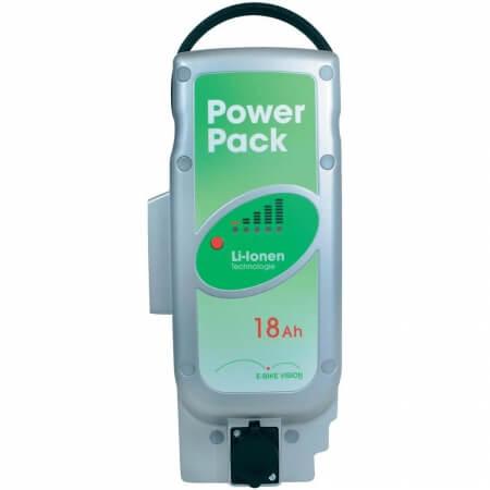 Li-ionen E-Bike Vision Power Pack Ersatzakku für Pedelec Panasonic-Antriebsystem 25,5V / 18Ah