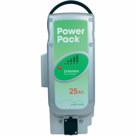 Li-ionen E-Bike Vision Power Pack Ersatzakku für Pedelec Panasonic-Antriebsystem 25,2V / 25Ah