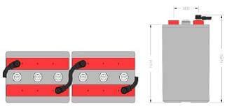 Inbatt OPzV-Block Batterie 4 OPzV 200 - 6V 200Ah (C10)
