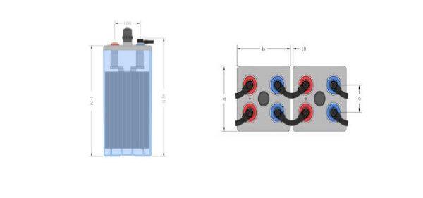 Inbatt OPzS-Zelle 8 OPzS 800 - 2V 893Ah (C10) Batterie