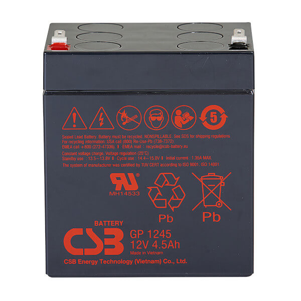 CSB GP1245 - 12V / 4,5Ah AGM Akku / Batterie