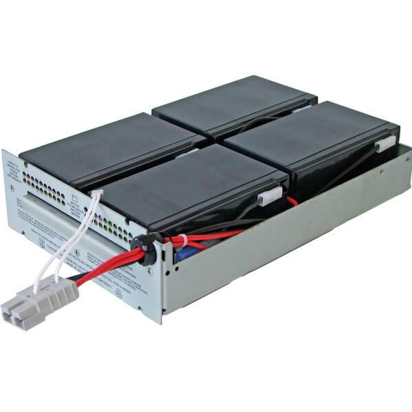 USV Ersatzakkuset für APC-RBC24 vormontiert mit Kabel und Stecker im Gehäuse Industrieausrüsterqualität Hochstrom-Typen 12V 34W