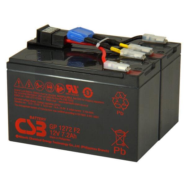 USV Ersatzakkuset für APC-RBC48 vormontiert mit Kabel und Stecker Industrieausrüsterqualität