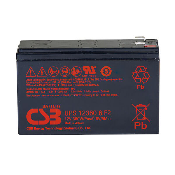 CSB UPS123606F2F1 12V 60W AGM Batterie Hochstromfest