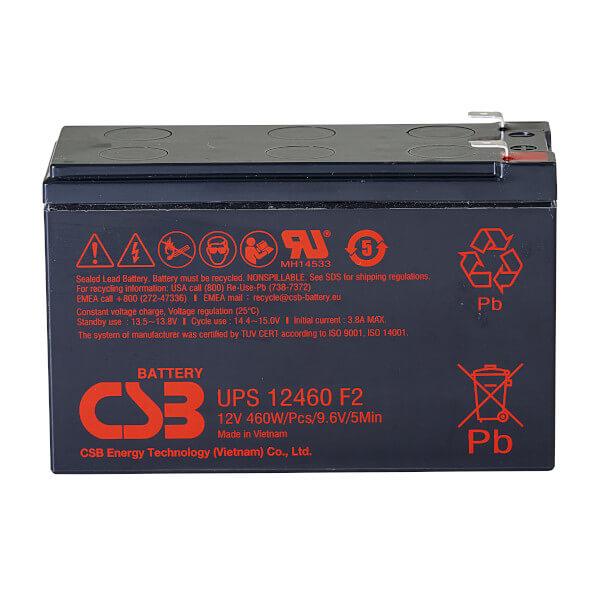 CSB UPS12460F2 12V 76,7W AGM Batterie Hochstromfest
