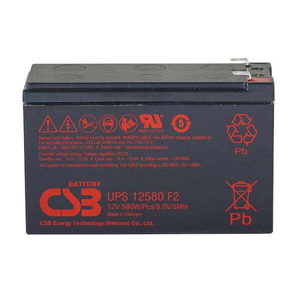 CSB UPS12580F2 12V 96,7W AGM Batterie Hochstromfest