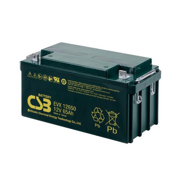 CSB EVX12650 12V 65Ah Blei-Akku / AGM Batterie Zyklenfest