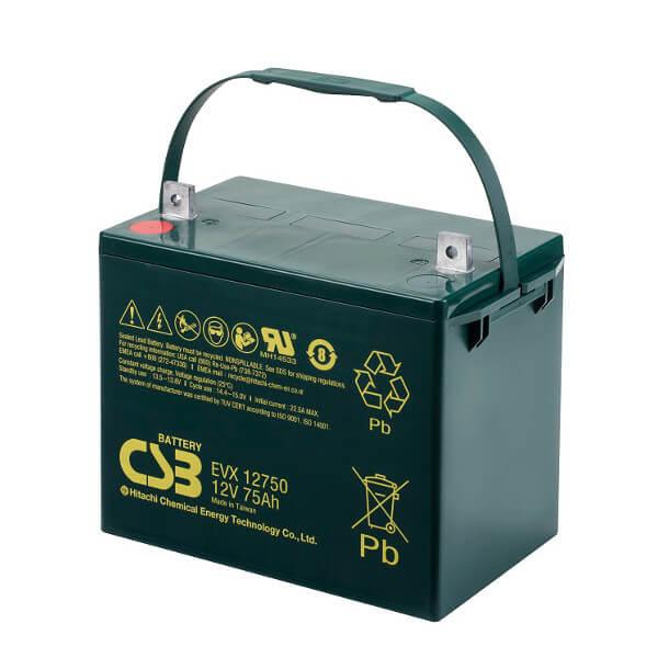 CSB EVX12750 12V 75Ah Blei-Akku / AGM Batterie Zyklenfest