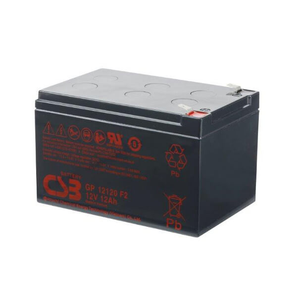 CSB GP12120F2 12V 12Ah Blei-Akku / AGM Batterie