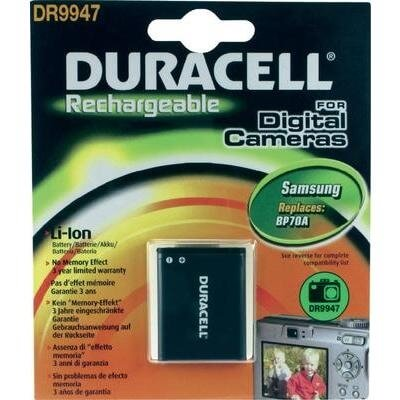 Duracell Digitalkamera und Camcorder Akku DR9947 kompatibel zu Samsung BP70A