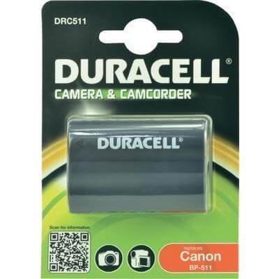 Duracell Digitalkamera und Camcorder Akku DRC511 kompatibel zu Canon BP-511, BP-512