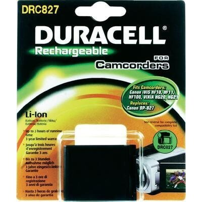 Duracell Digitalkamera und Camcorder Akku DRC827 kompatibel zu Canon BP-827