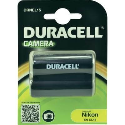 Duracell Digitalkamera und Camcorder Akku DRNEL15 kompatibel zu Nikon EN-EL15