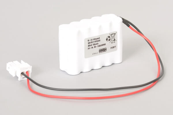 Ni-Cd Akkupack 30N150 S10R2KSt 36V / 150mAh (0,15Ah) 10 Säulen in 2 Reihen im Schrumpfschlauch mit Kabel und Stecker für Türsteuerungen