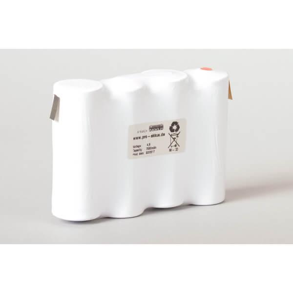 Ni-Cd Akkupack Notlicht Notbeleuchtung 4,8V / 7000mAh (7Ah) F4x1 Reihe mit Lötfahnen