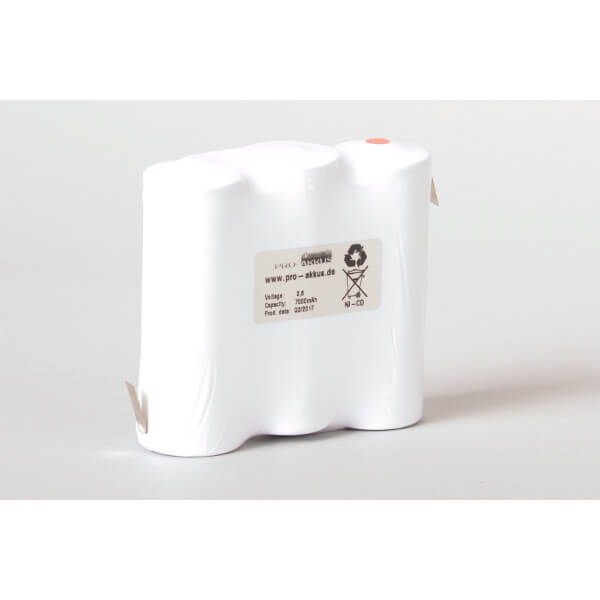 Ni-Cd Akkupack Notlicht Notbeleuchtung 3,6V / 7000mAh (7Ah) F3x1 Reihe mit Lötfahnen